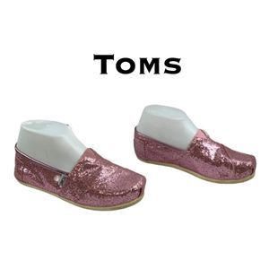 Toms Pink Sparkle Shoes Size 6.5W